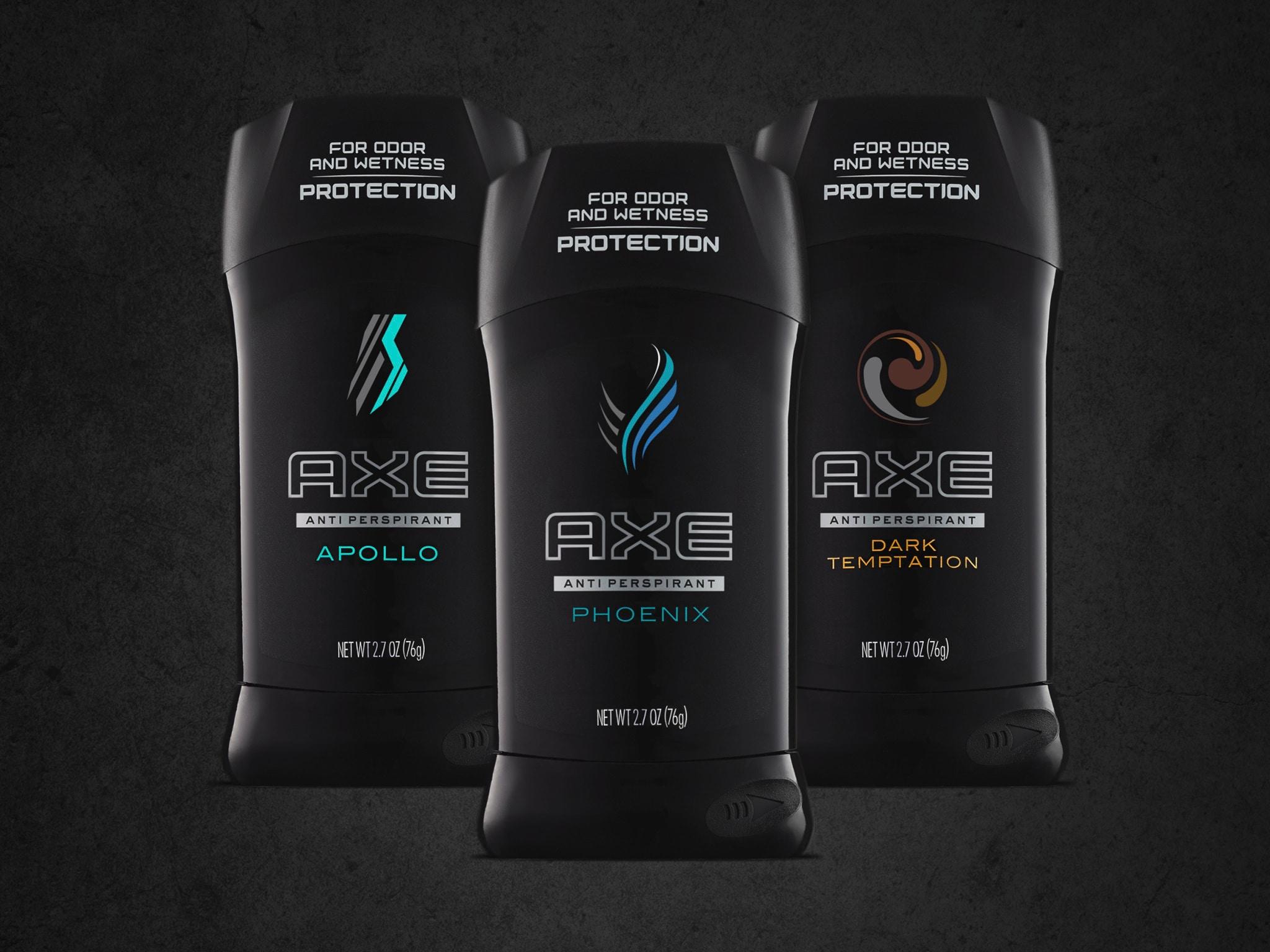 Axe black antiperspirant sticks