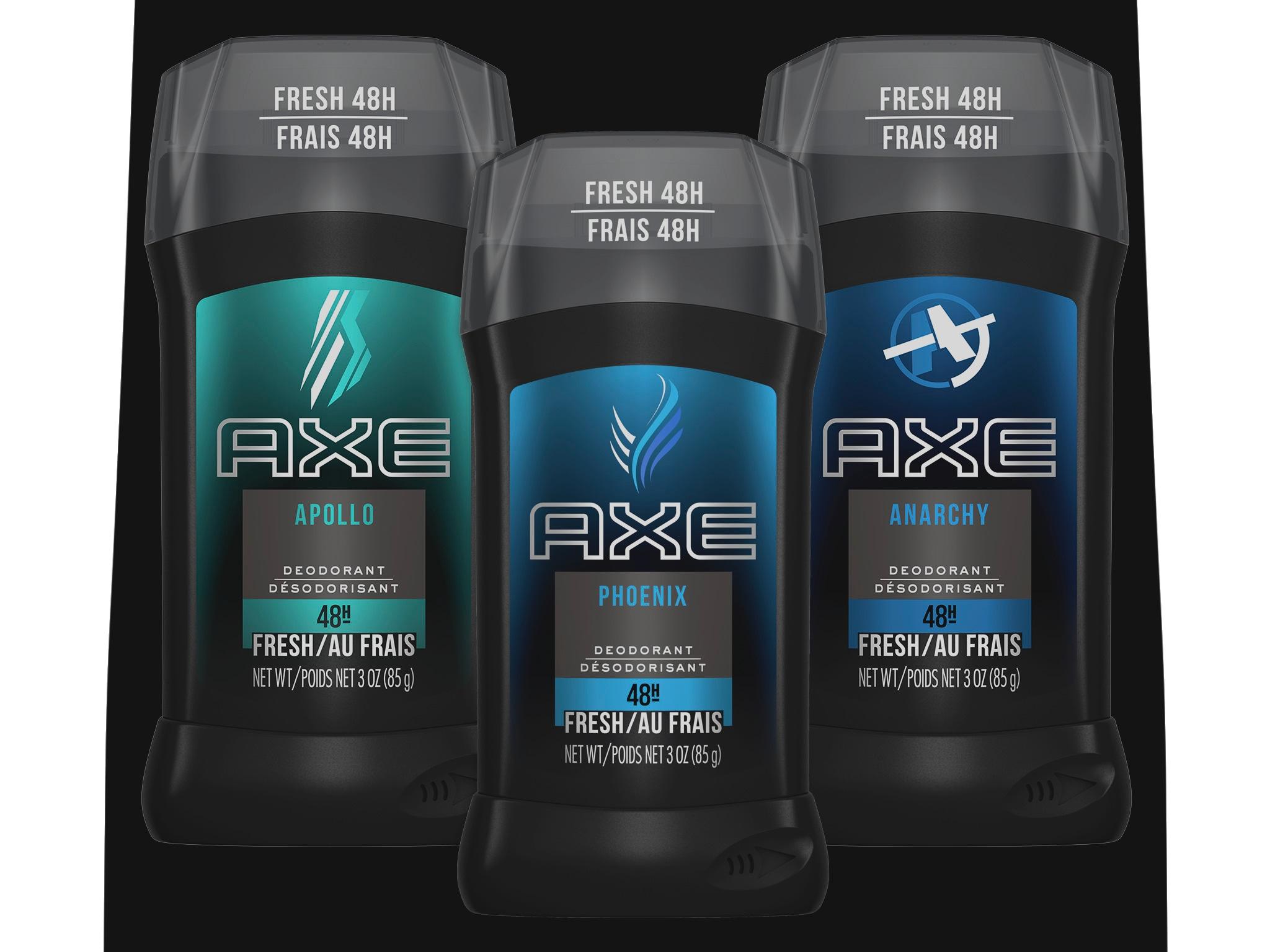 Axe deodorant sticks