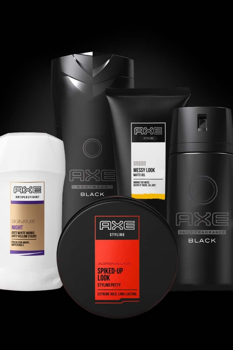 A selection of Axe products.