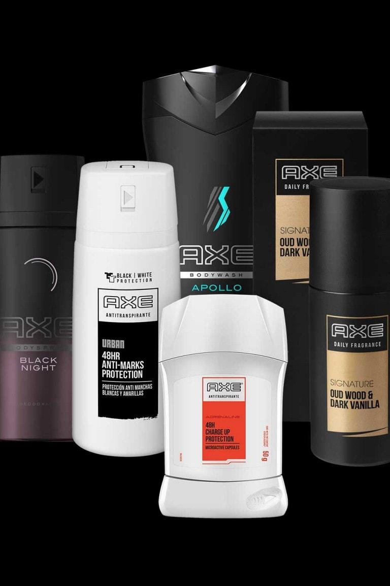 Una selección de productos Axe.
